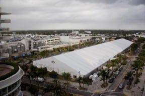 Scope Art Fair Tent in Midtown Miami