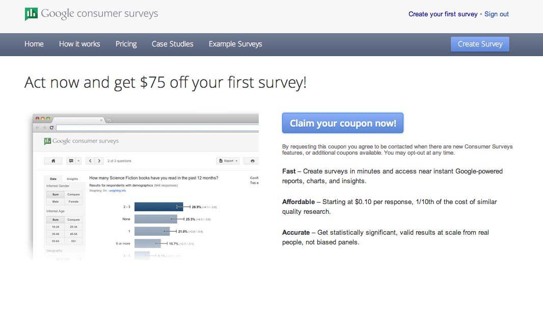 Google Surveys Kevin Sprague